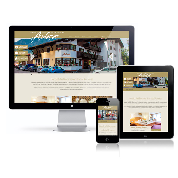 Website HOTEL AUDERER